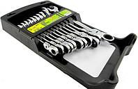 Набор комбинированных рожково-накидных ключей с трещоткой Alloid НК-2081-11К
