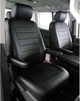Чехлы на Ниссан Примастар Ван (Nissan Primastar Van) 1+1 (универсальные, кожзам+автоткань, отд. подголовник)
