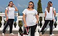 Летний костюм футболка брюки Большого размера