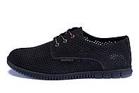 Мужские кожаные летние туфли, перфорация ZGManBlack (в наличии 40, 41, 45 р)