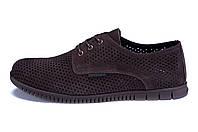 Мужские кожаные летние туфли, перфорация ZGManBrown (в наличии 41, 44 р)