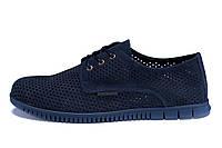 Мужские кожаные летние туфли, перфорация ZGManBlue (в наличии 41, 44, 45 р)