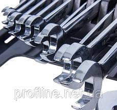 Набор ключей комбинированных с трещоткой 11 предметов,8-19 мм. Alloid НК-2081-11, фото 3