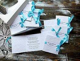 Свадебное приглашение с тиснением