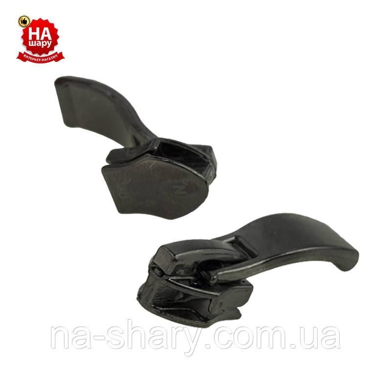 Бегунок для молнии №7 Капрон. Собачка молния (Обувной усиленный №16) Блек никель (100шт)