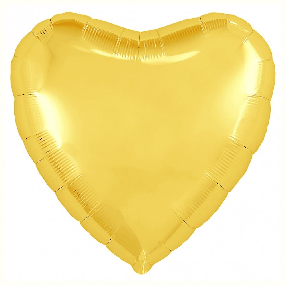 Agura Фольгированный Шар 19''/48 см, Сердце, Желтый