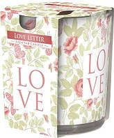 Свеча ароматизированная в стекле Bispol Любовное письмо 7,8 см (sn72s-04)