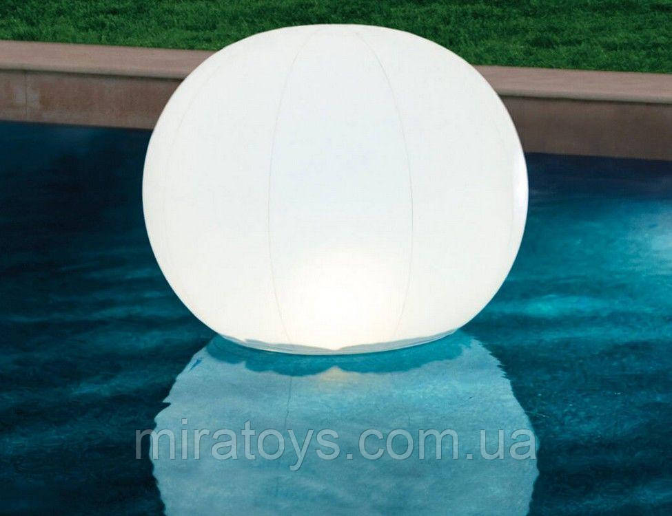 ✅Світлодіодна декоративна підсвітка, ліхтар Intex 68695 «Глобус» надувний. Працює від акумулятора