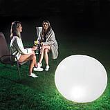 ✅Світлодіодна декоративна підсвітка, ліхтар Intex 68695 «Глобус» надувний. Працює від акумулятора, фото 4
