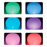 ✅Світлодіодна декоративна підсвітка, ліхтар Intex 68695 «Глобус» надувний. Працює від акумулятора, фото 5