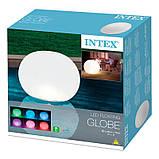 ✅Світлодіодна декоративна підсвітка, ліхтар Intex 68695 «Глобус» надувний. Працює від акумулятора, фото 6