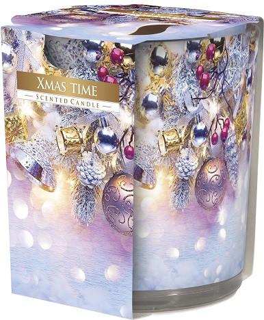 Свеча ароматизированная в стекле Bispol Рождество 7,8 см (sn72s-01)