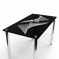 """Черный стеклянный стол """"Балтика"""""""