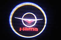 Подсветка дверей авто / лазерная проeкция логотипа HAIMA | Хайма