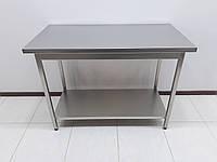 Стол производственный из нержавеющей стали 1200х600х850, фото 1