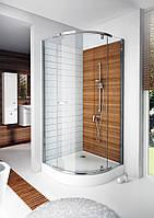 Полукруглая душевая кабина Aquaform Newday 80x80 100-09300 профиль хром, стекло прозрачное