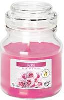 Свеча ароматизированная Bispol Роза 10 см (snd71-78)