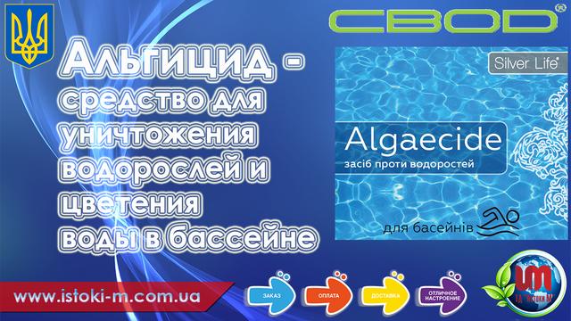 Algaecide (альгицид) - средство для уничтожения водорослей и цветения воды в бассейне