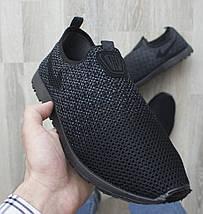 Слипоны мужские PR-G черные летние сетка 43 р. 27,5 см (983207365), фото 3