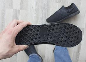 Слипоны мужские PR-G черные летние сетка 43 р. 27,5 см (983207365), фото 2