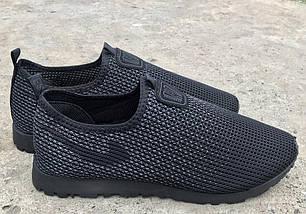 Слипоны мужские PR-G черные летние сетка 45 р. 29 см (983207365), фото 3