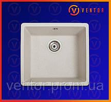 Кухонне миття з штучного каменю (граніту) Вега білий