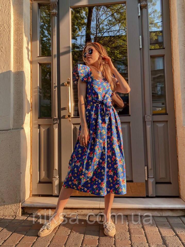 Платье на лето с цветочным принтом, разные цвета