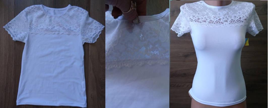 Блуза короткий рукав с гипюром, фото 2