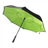 Зонт трость из шелка 8-панельный, розница + опт \ es - 957963, фото 6