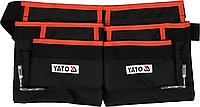 Пояс для инструментов, 4 кармана и 2 петли для молотка, YATO