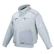Акумуляторна куртка з вентиляцією і плечовими накладками Makita DFJ 405 ZXL