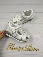 Босоножки детские на девочку сандали Белые 23-28 (14-17,5 см), фото 1