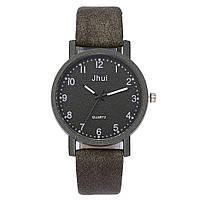 Женские модные часы Junshi кожаный ремешок (Тёмно-зелёные)