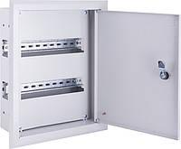 Корпус металлический e.mbox.pro.w.12z IP31 встраиваемый на 12 модулей с замком, фото 1