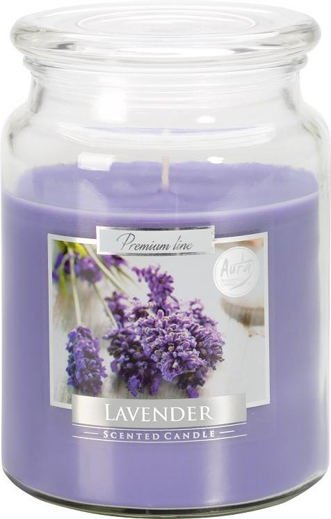 Свеча ароматизированная Bispol Лаванда 14 см (snd99-79)