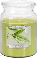 Свеча ароматизированная Bispol Зелеый чай 14 см (snd99-83)