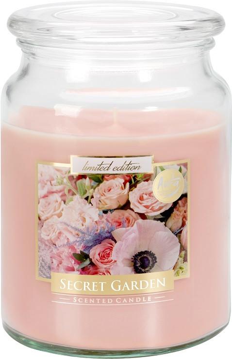 Свеча ароматизированная Bispol Таинственный сад 14 см (snd99-254)