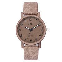 Женские модные часы   Jhui   кожаный ремешок (Бежевые)