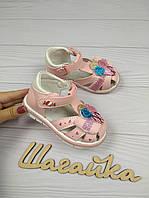 Босоножки детские на девочку сандали розовые 21-24 (13-15см), фото 1