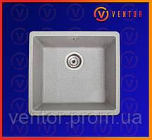 Кухонне миття з штучного каменю (граніту) Вега сірий