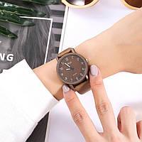 Женские модные часы  Jhui  кожаный ремешок (Коричневые)