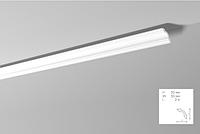 Карниз(плинтус) потолочный гладкий  NMC, A 2  , лепной декор из пенопласта
