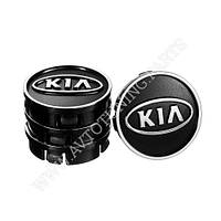 Заглушка колесного диска KIA 60x55  черный ABS пластик (50027)