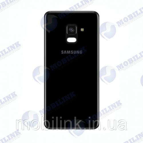 Крышка задняя Samsung A8+ A730 Чёрная Black GH82-15629A оригинал!