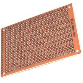 Макетна плата з гетинаксу 70х90 мм одностороння