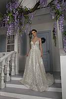 Свадебное блестящее платье Tribeca с бабочкой на спине