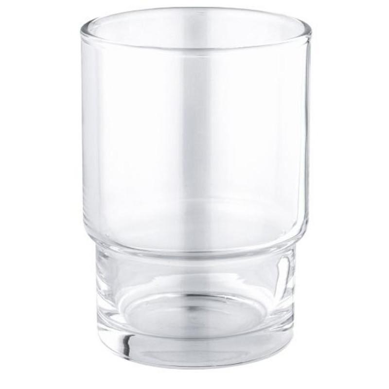 Стеклянный стакан в ванную комнату Grohe Essentials40372001 (прозрачное стекло)