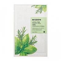 Тканевая маска с экстрактом целебных трав Mizon Joyful Time Essence Mask Herb Convergence&Firming