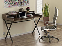 Письмовий стіл для дому та офісу L-10 Loft Design Чорний Матовий / Горіх Модена