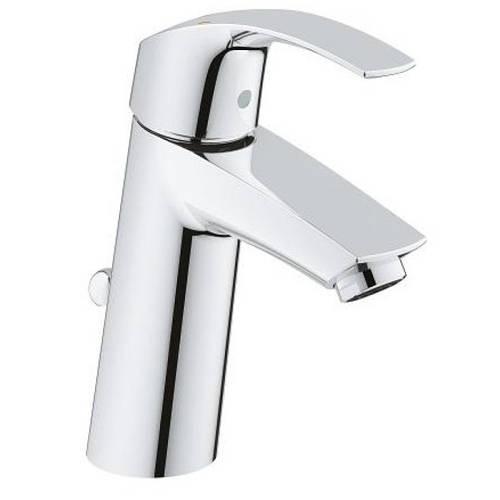 Смеситель для умывальника литой из латуни Grohe Eurosmart 23322001 с донным клапаном